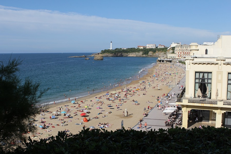 Beach in Biarritz France